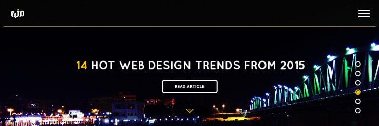 اشهر اساليب تصميم المواقع فى 2015