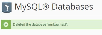 كيفية انشاء او حذف قاعده بيانات (Cpanel) 15