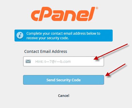فقد كلمة المرور لوحة تحكم (Cpanel) 2
