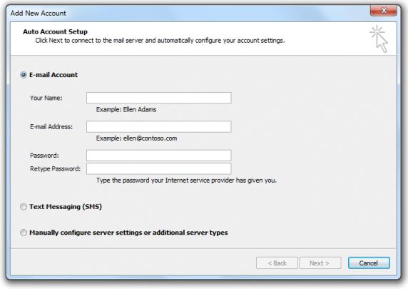 كيفية الدخول على البريد الألكترونى عبر (OutLook) اصدار 2010 4