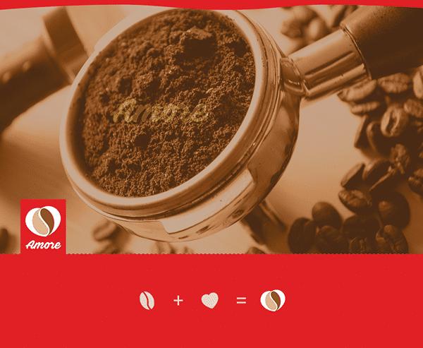 شعار وهوية ماكينات امورى للقهوه 1