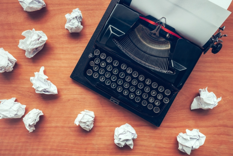 Writer's block concept